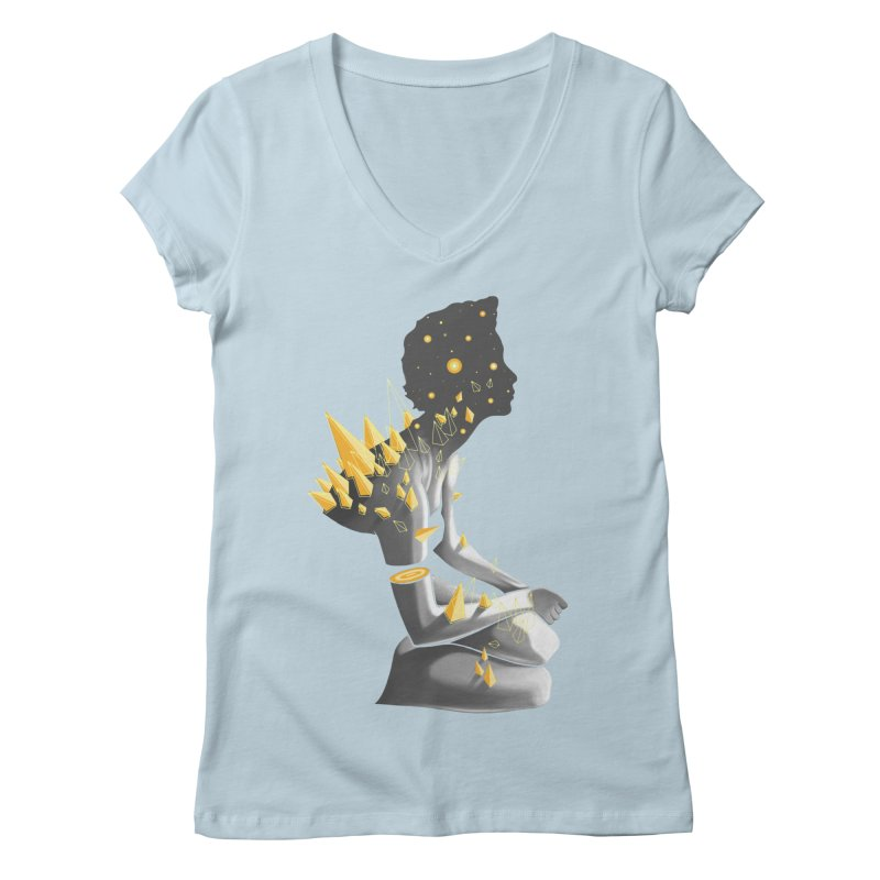 Somber Women's Regular V-Neck by cuban0's Artist Shop