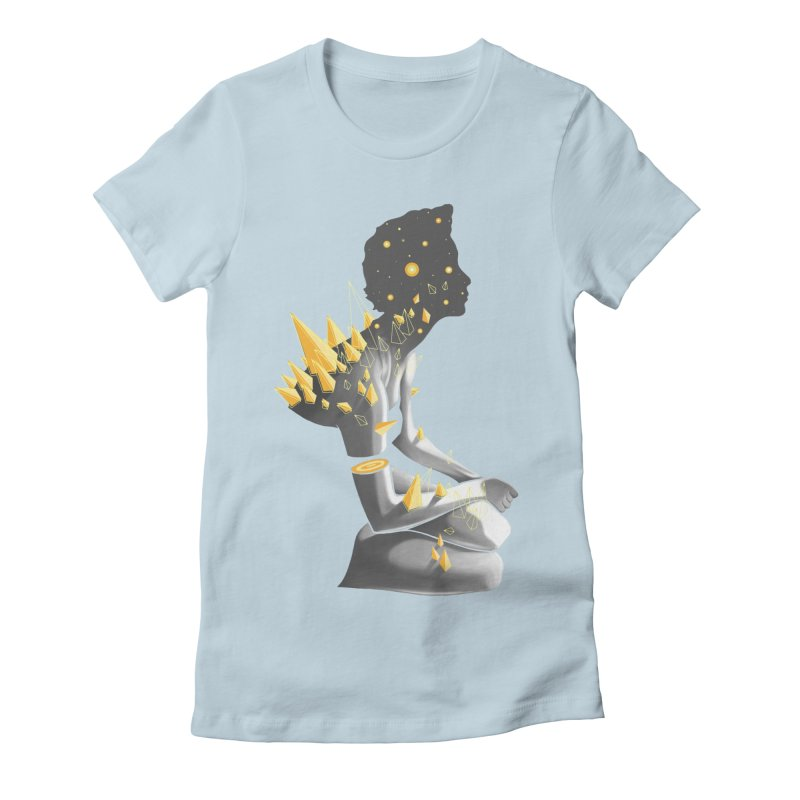 Somber Women's Fitted T-Shirt by cuban0's Artist Shop