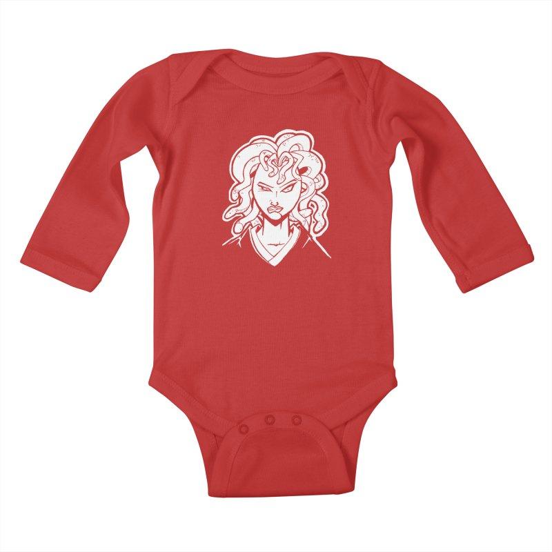Medusa Kids Baby Longsleeve Bodysuit by cubedwellingsavage's Artist Shop