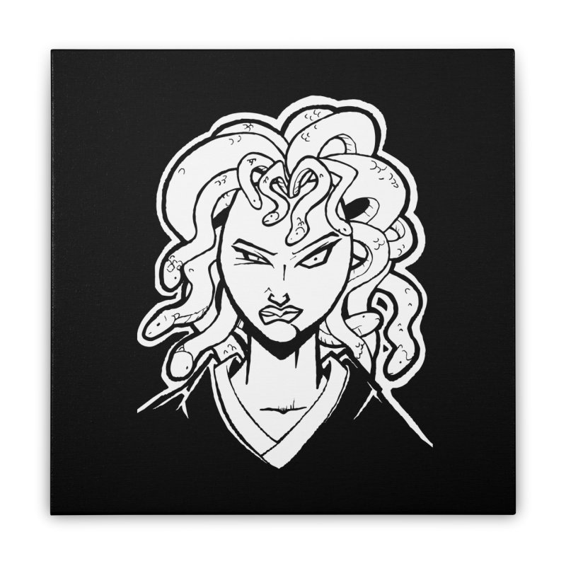 Medusa Home Stretched Canvas by cubedwellingsavage's Artist Shop