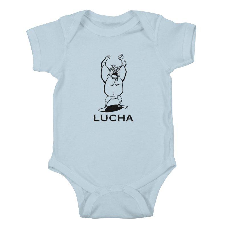 Lucha Kids Baby Bodysuit by cubedwellingsavage's Artist Shop