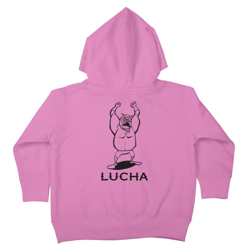 Lucha Kids Toddler Zip-Up Hoody by cubedwellingsavage's Artist Shop