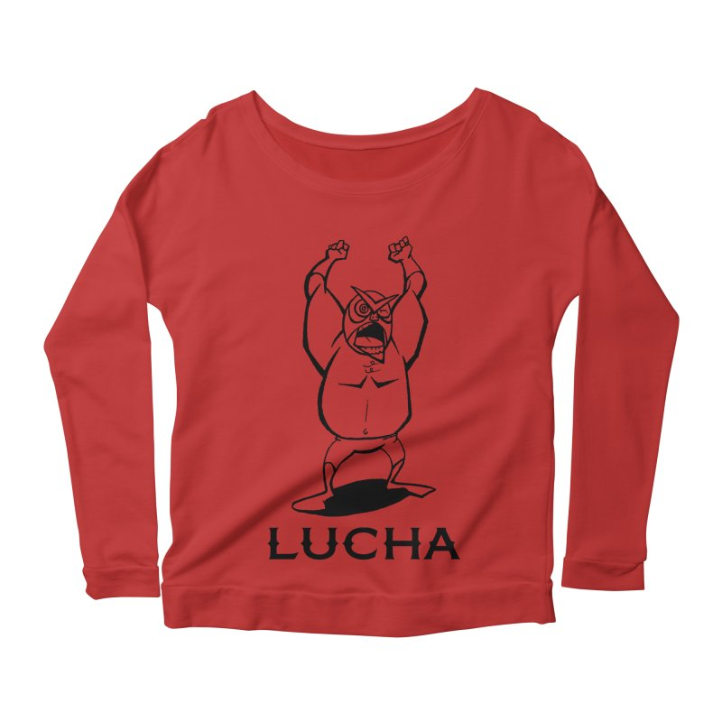 Lucha Women's Longsleeve Scoopneck  by cubedwellingsavage's Artist Shop