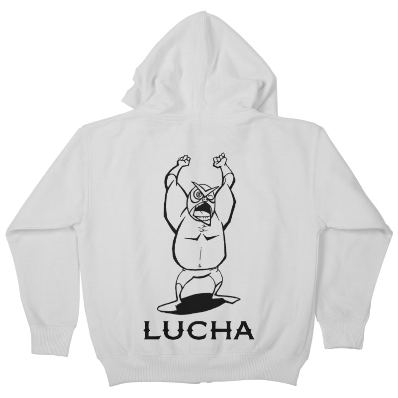 Lucha Kids Zip-Up Hoody by cubedwellingsavage's Artist Shop
