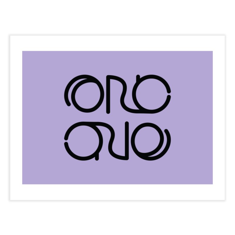 Orc.One Worm Logo Home Fine Art Print by cubelight's Artist Shop