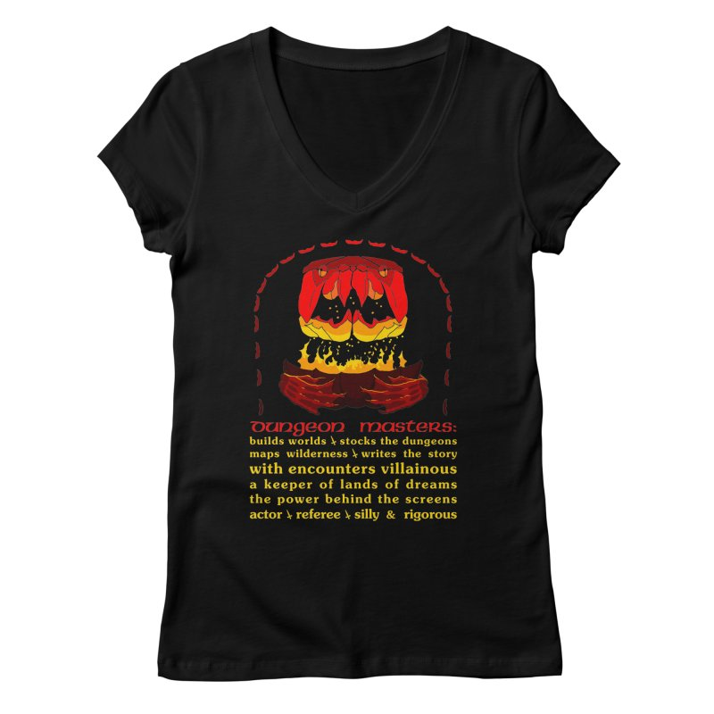 The Dungeon Masters Limerick Women's V-Neck by cubelight's Artist Shop