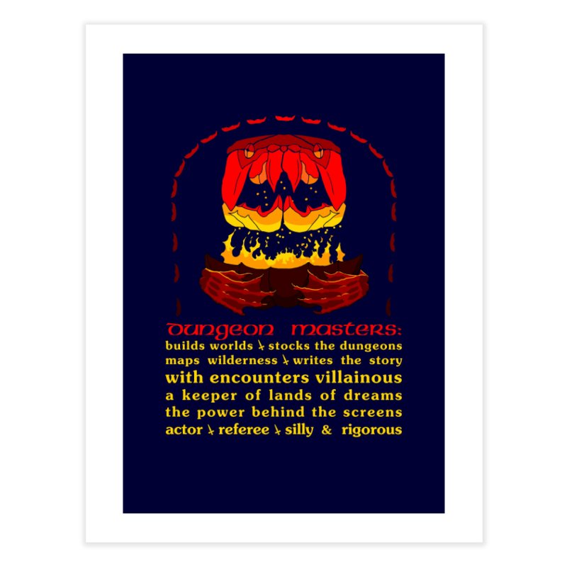 The Dungeon Masters Limerick Home Fine Art Print by cubelight's Artist Shop