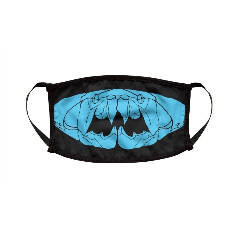 Dunkleosteus Blue Accessories Face Mask by cubelight's Artist Shop