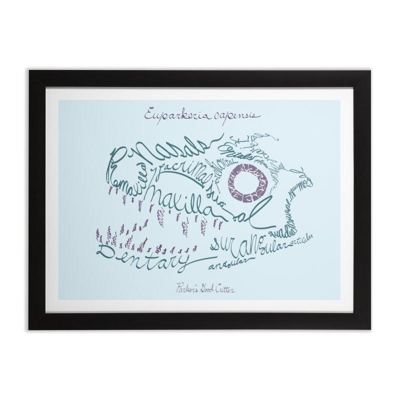 Skull Calligram: Parker's Good Animal (revised) Home Framed Fine Art Print by cubelight's Artist Shop