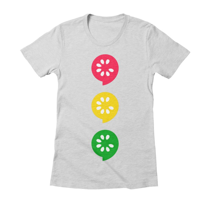 Traffic Light Women's Fitted T-Shirt by The Cucumber Swag Shop