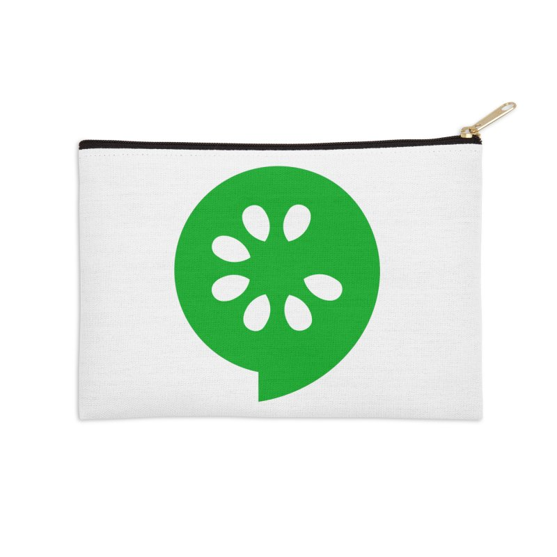 Green Slice Accessories Zip Pouch by The Cucumber Swag Shop
