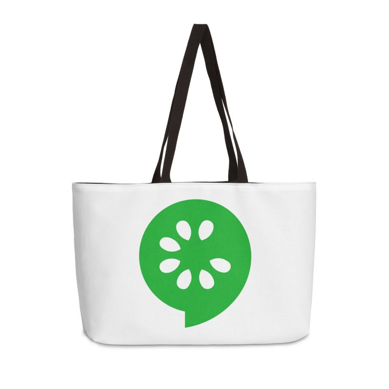Green Slice Accessories Bag by The Cucumber Swag Shop