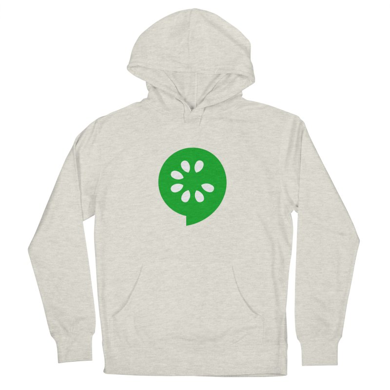 Green Slice Men's French Terry Pullover Hoody by The Cucumber Swag Shop