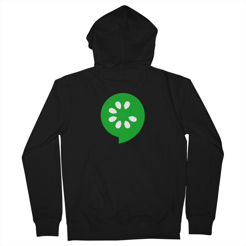Green Slice Women's French Terry Zip-Up Hoody by The Cucumber Swag Shop