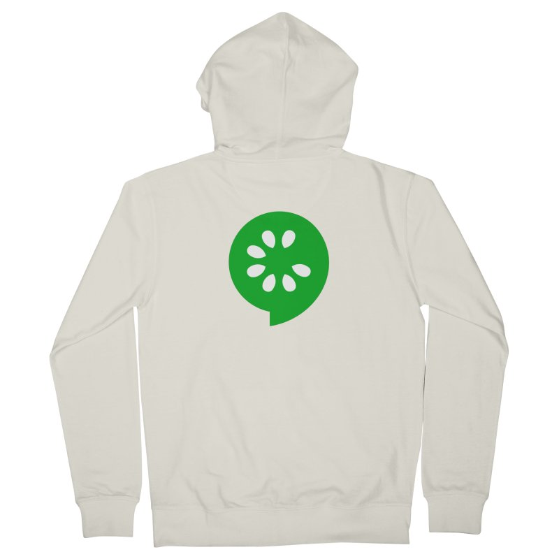 Green Slice Men's French Terry Zip-Up Hoody by The Cucumber Swag Shop
