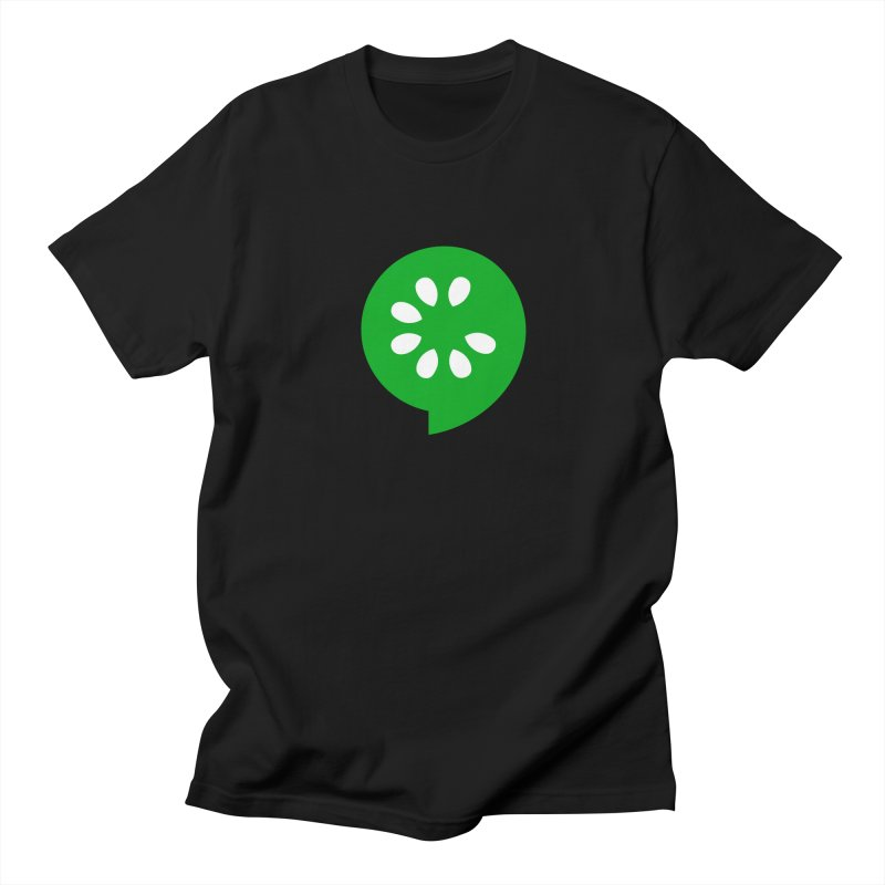 Green Slice Men's Regular T-Shirt by The Cucumber Swag Shop