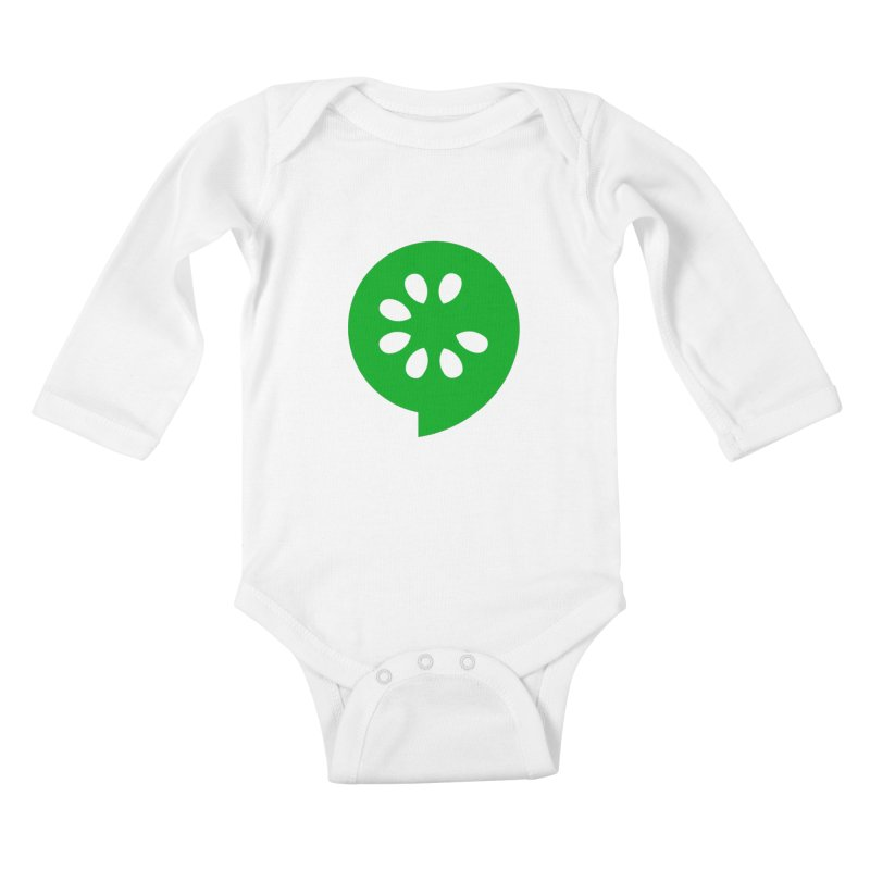 Green Slice Kids Baby Longsleeve Bodysuit by The Cucumber Swag Shop
