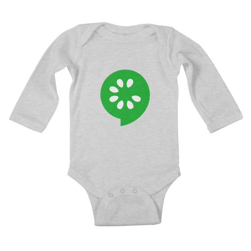 Green Slice Kids Baby Longsleeve Bodysuit by The Cucumber Swag Shop