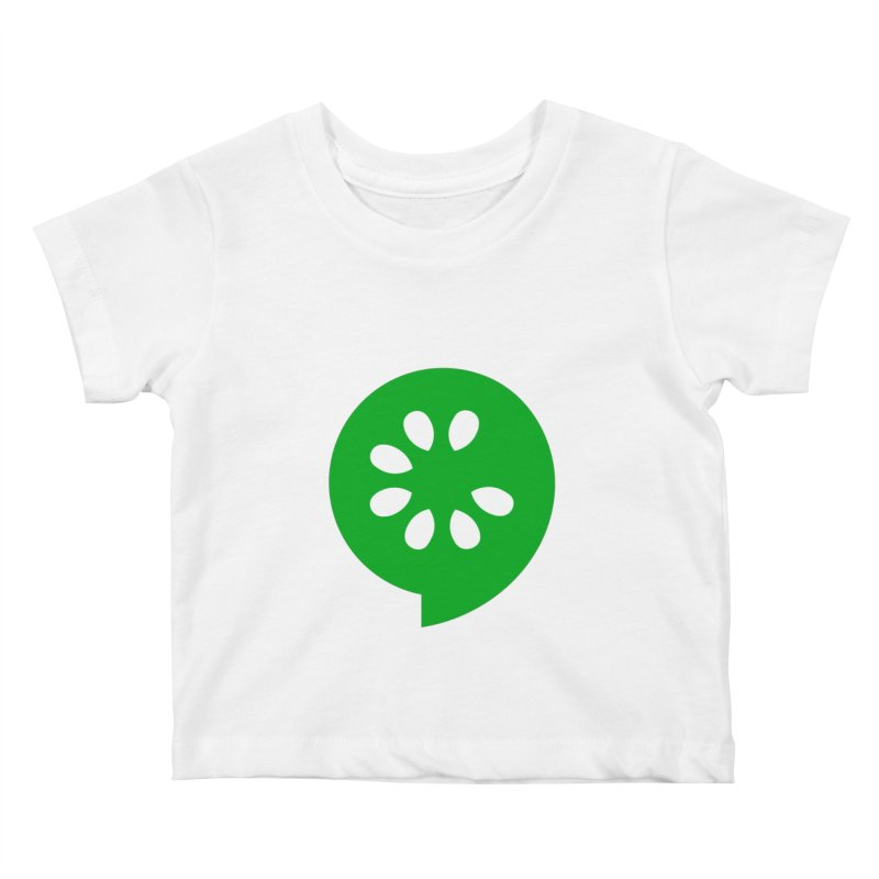 Green Slice Kids Baby T-Shirt by The Cucumber Swag Shop