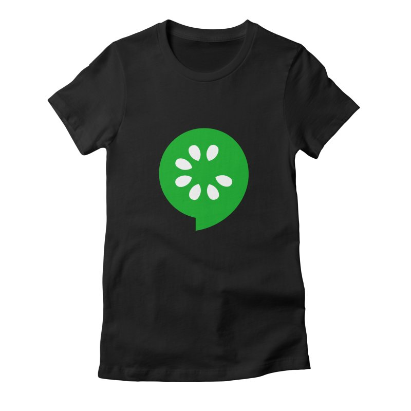Green Slice Women's Fitted T-Shirt by The Cucumber Swag Shop