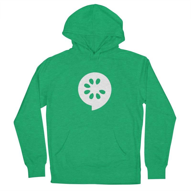 White Slice Men's French Terry Pullover Hoody by The Cucumber Swag Shop