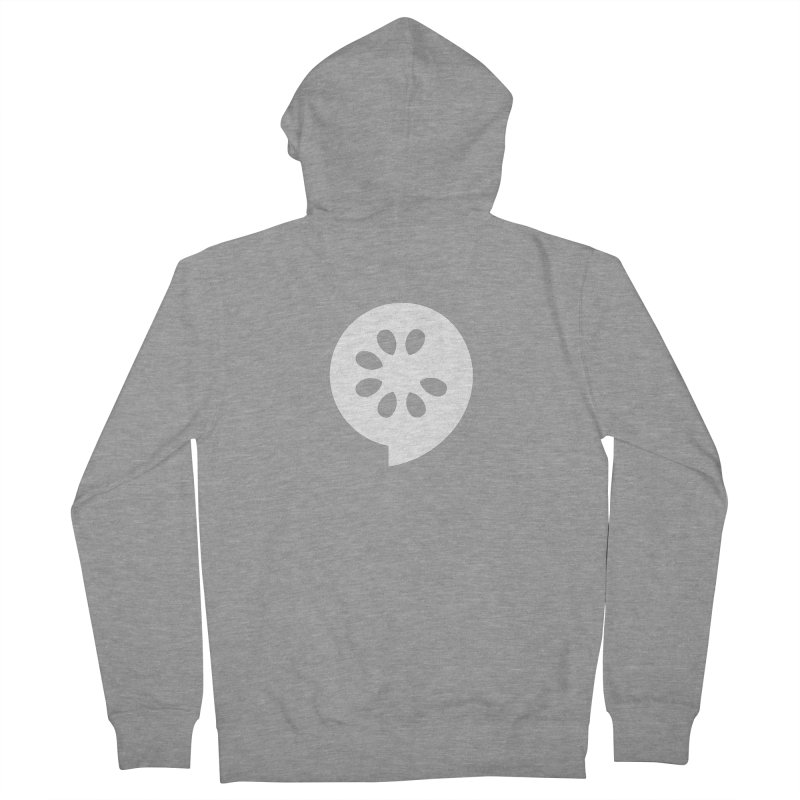 White Slice Men's French Terry Zip-Up Hoody by The Cucumber Swag Shop