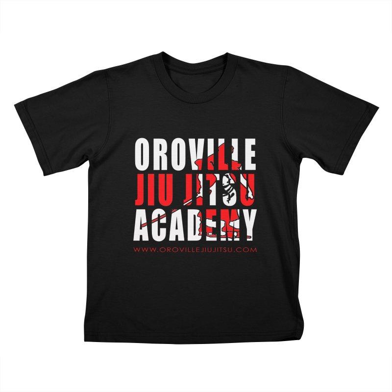 Oroville Jiu Jitsu Academy Shwag Kids T-Shirt by The CULTIVATE POWER Shop