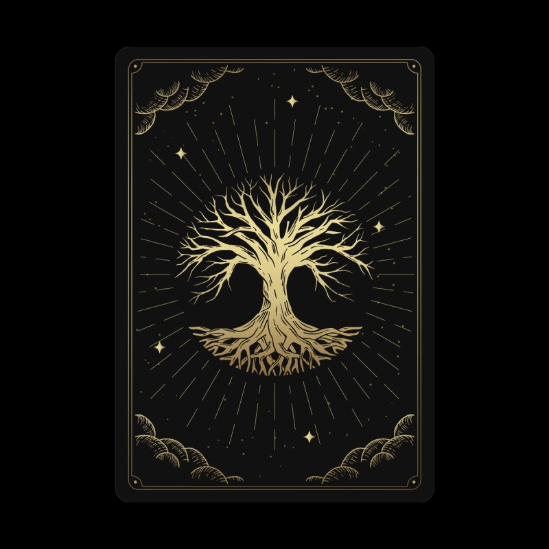 """Tree Tarot Men's T-Shirt by """"Anthology"""" by Culture Cafe Studio"""