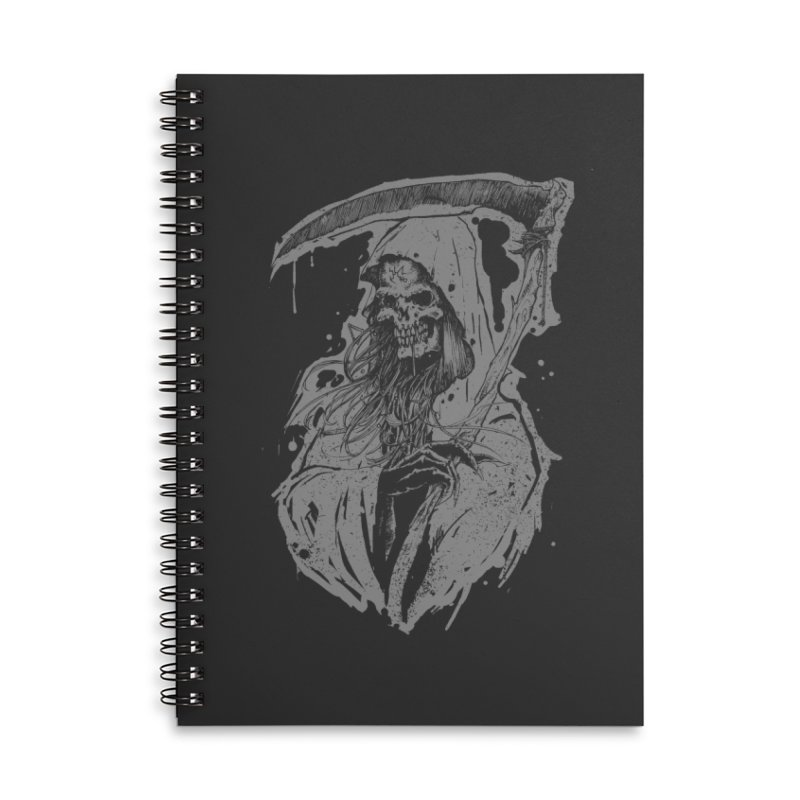 Reaper Accessories Lined Spiral Notebook by Cumix47's Artist Shop