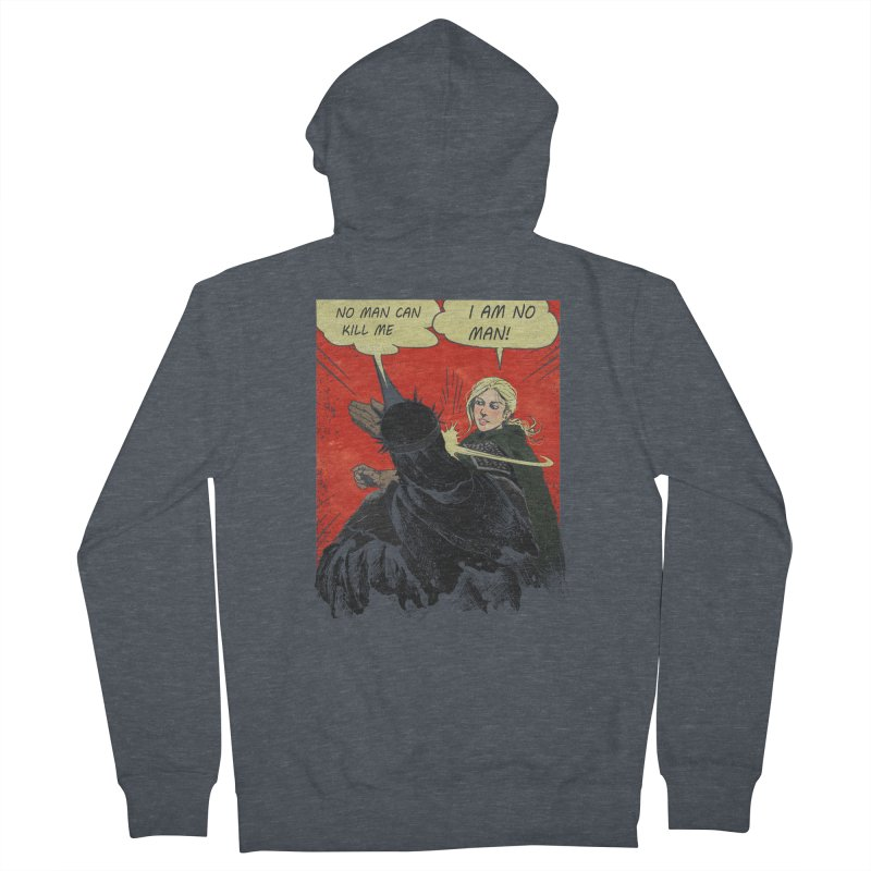 I Am No Man Women's French Terry Zip-Up Hoody by Cumix47's Artist Shop