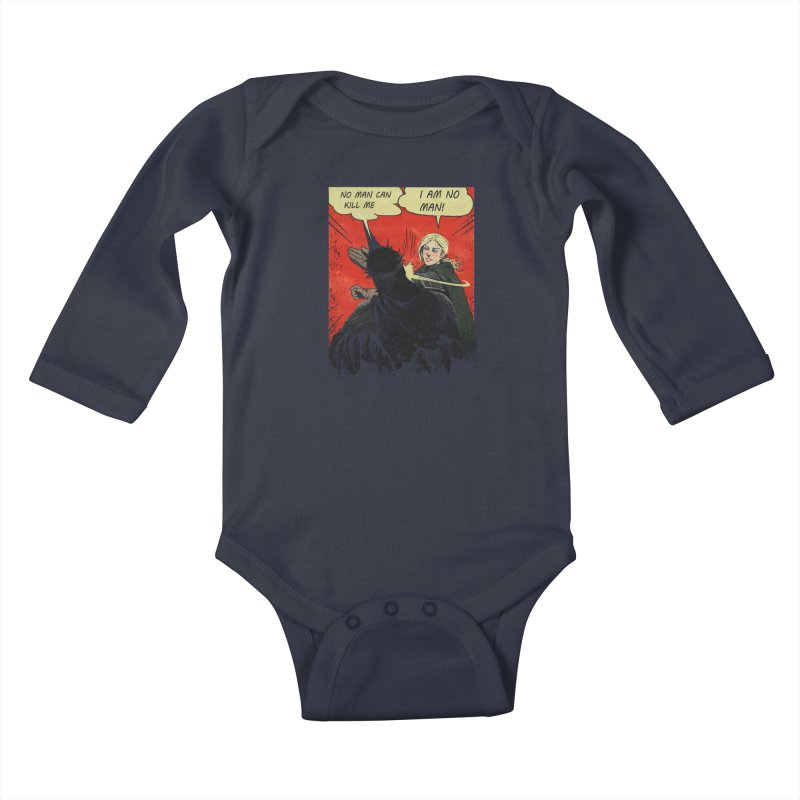 I Am No Man Kids Baby Longsleeve Bodysuit by Cumix47's Artist Shop