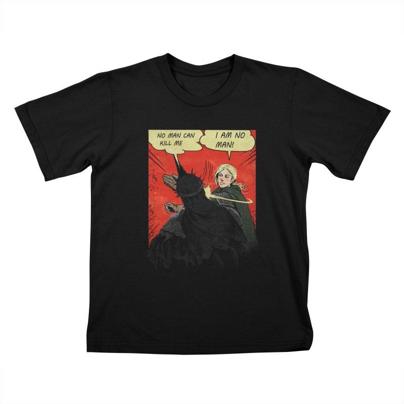 I Am No Man Kids T-Shirt by Cumix47's Artist Shop