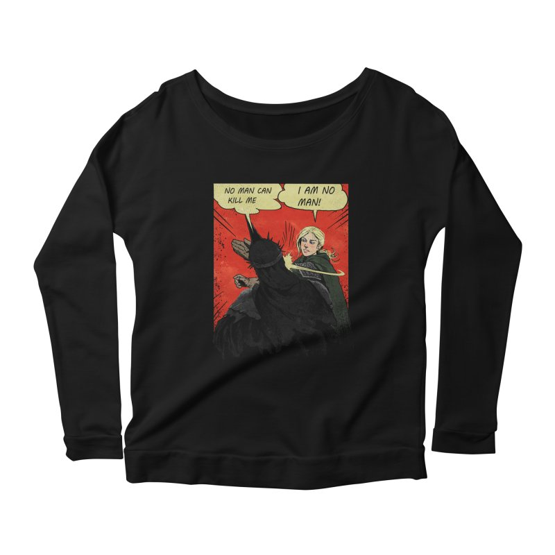 I Am No Man Women's Scoop Neck Longsleeve T-Shirt by Cumix47's Artist Shop