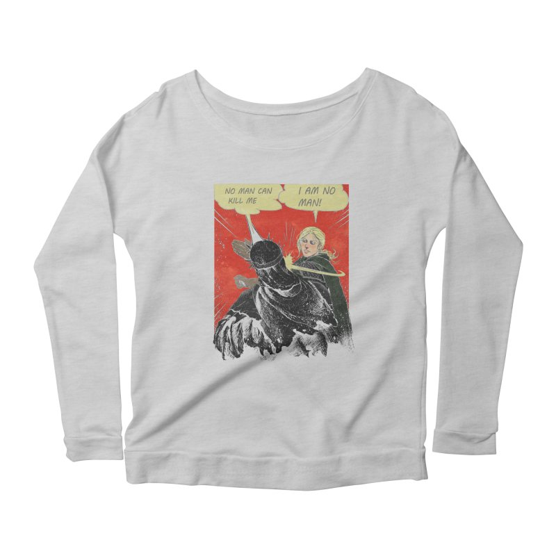 I Am No Man Women's Longsleeve Scoopneck  by Cumix47's Artist Shop