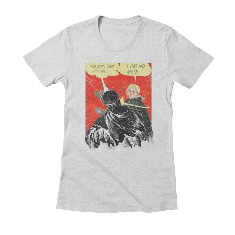 I Am No Man Women's Fitted T-Shirt by Cumix47's Artist Shop