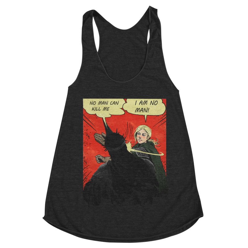 I Am No Man Women's Racerback Triblend Tank by Cumix47's Artist Shop