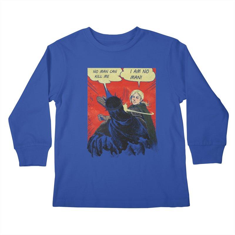 I Am No Man Kids Longsleeve T-Shirt by Cumix47's Artist Shop