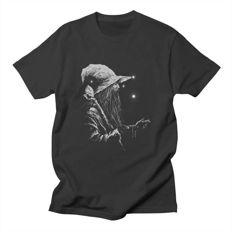 Grey Wizzard Men's T-Shirt by Cumix47's Artist Shop