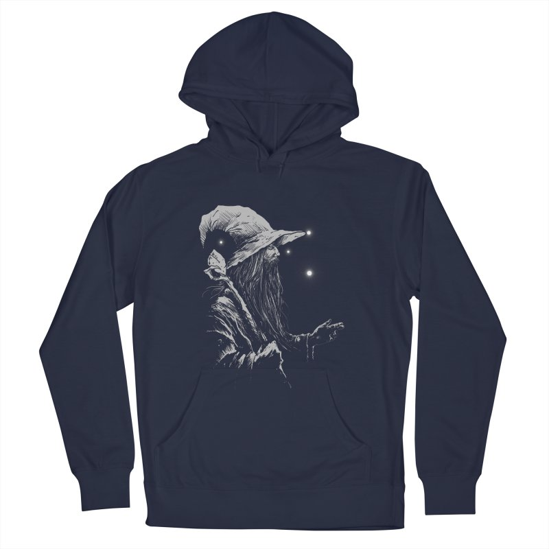 Grey Wizzard Women's French Terry Pullover Hoody by Cumix47's Artist Shop