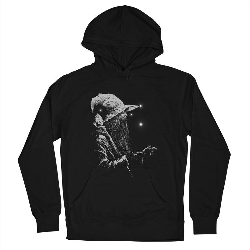 Grey Wizzard Men's French Terry Pullover Hoody by Cumix47's Artist Shop