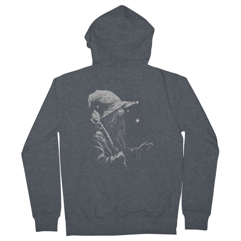 Grey Wizzard Men's Zip-Up Hoody by Cumix47's Artist Shop