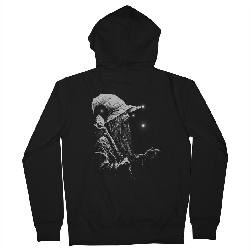 Grey Wizzard Men's French Terry Zip-Up Hoody by Cumix47's Artist Shop