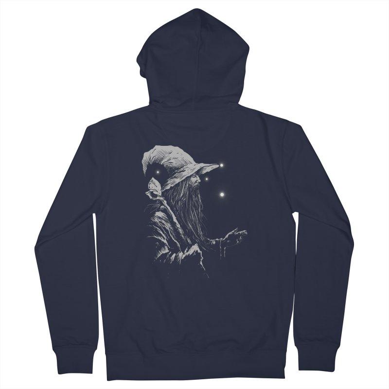 Grey Wizzard Men's Zip-Up Hoody by Cumix47's Artist Shop