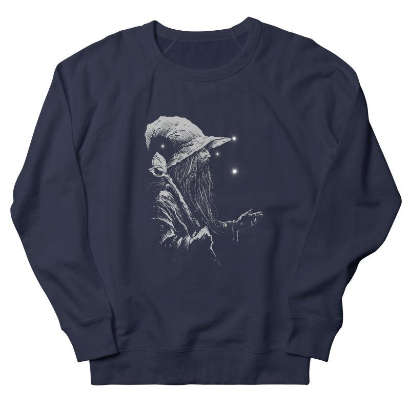 Grey Wizzard Men's French Terry Sweatshirt by Cumix47's Artist Shop