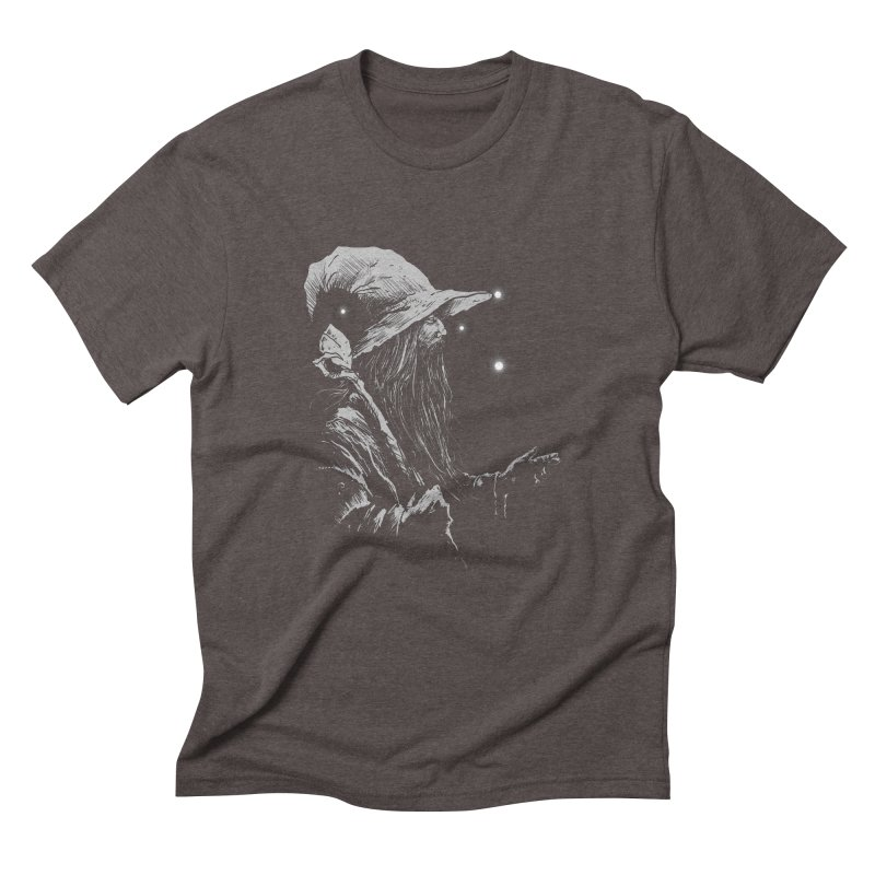 Grey Wizzard Men's Triblend T-Shirt by Cumix47's Artist Shop