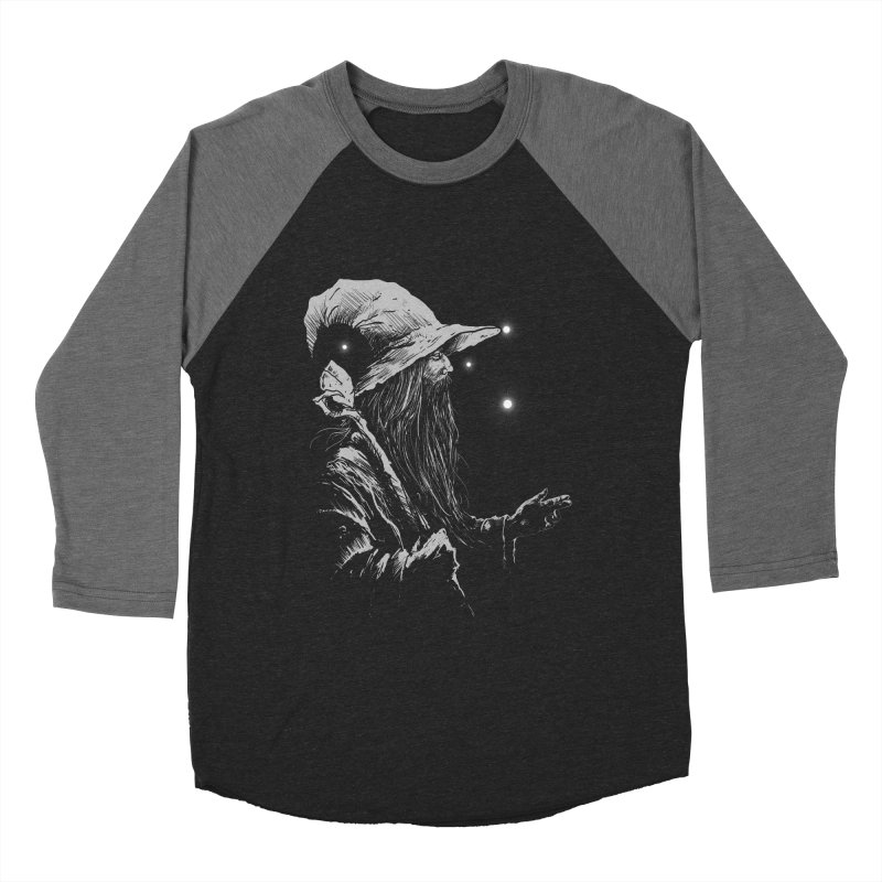 Grey Wizzard Men's Baseball Triblend Longsleeve T-Shirt by Cumix47's Artist Shop