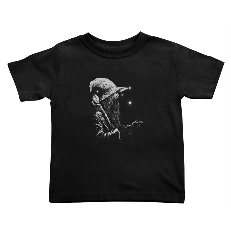 Grey Wizzard Kids Toddler T-Shirt by Cumix47's Artist Shop