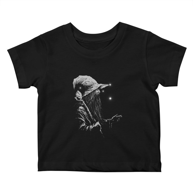 Grey Wizzard Kids Baby T-Shirt by Cumix47's Artist Shop