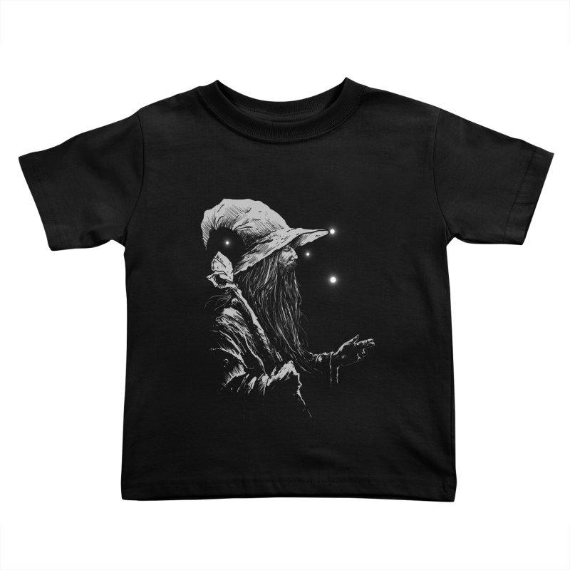 Grey Wizzard Kids Toddler T-Shirt by Cumix47's Artist Shop