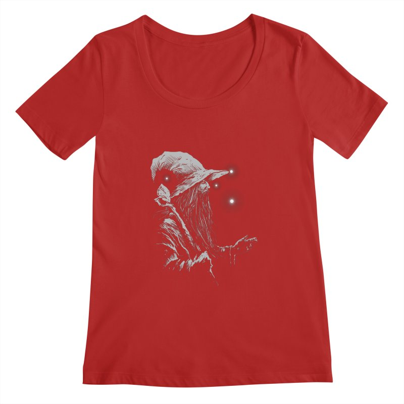Grey Wizzard Women's Scoopneck by Cumix47's Artist Shop